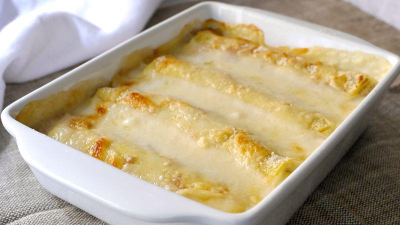 Crepes al formaggio e prosciutto