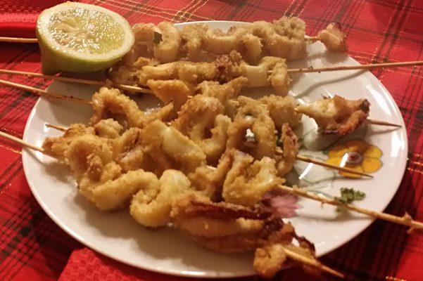 Spiedini di calamari