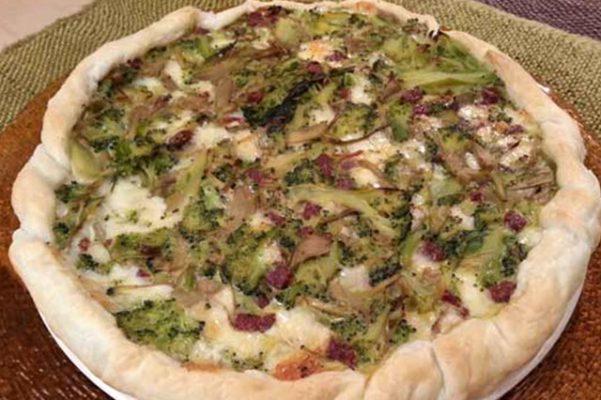 Torta salata carciofi e broccoli