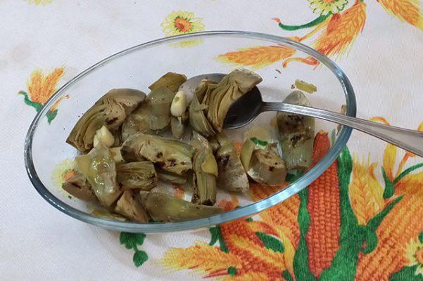 Cuori di carciofi arrostiti