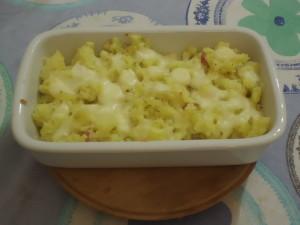 patate sbriciolate con formaggio e pancetta